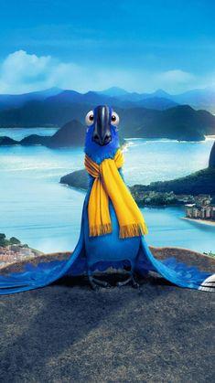 "Wallpaper for ""Rio"" Rio Film, Rio Movie, Movie Wallpapers, Cute Cartoon Wallpapers, Vanellope Y Ralph, Movie Night For Kids, Anna Disney, Anime City, Disney Phone Wallpaper"