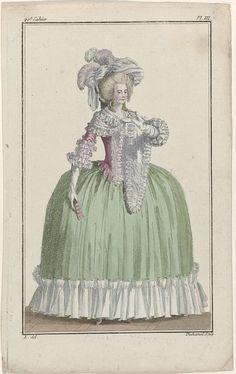 Cabinet des Modes ou les Modes Nouvelles, 1 septembre 1786, Pl.III, A.B. Duhamel, Buisson, 1786