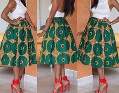 African Clothing African Midi Skirt African by DiagossaCouture African Print Skirt, African Print Dresses, African Wear, African Attire, African Fabric, African Dress, Ankara Fabric, African Prints, African Style