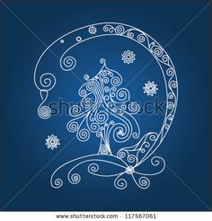 quilling christmas | Ornamental Quilling Design Of A Christmas Tree Stock Vector 117567061 ...