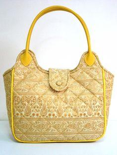 Welcome to Thai Luxury Handmade Unique Silk Fabric Tote Bags Tote Bags Handmade, Handmade Handbags, Fabric Tote Bags, Gold Handbags, Silk Fabric, Dust Bag, Thai Art, Fancy, Shoulder Bag