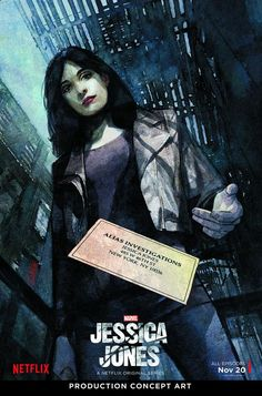 New trailer and posters for the Netflix and Marvel TV series JESSICA JONES starring Krysten Ritter, Mike Colter, David Tennant, Rachael Taylor and Carrie-Anne Moss. Jessica Jones Marvel, Jessica Jones Season 1, Jessica Jones Netflix, Superhero Movies, Comic Movies, Comic Books Art, Book Art, Series Da Marvel, Serie Marvel