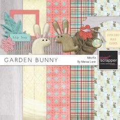 Garden Bunny Mini Kit | digital scrapbook | easter, spring, rabbits*