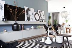 Inspiracja: Skandynawskie biel, czerń, szarości i... zieleń roślinności - zdjęcie od 9design - Salon - Styl Skandynawski - 9design