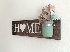 This adorable home sign measures 18 x 5.5. This is a made to order item so the exact sign pictured is not available, but one similar will be made.