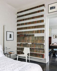 Karl Lagerfeld, Makassar, Ad Architectural Digest, White Aesthetic, Art Deco, Living Area, Shelving, Bookcase, Indoor
