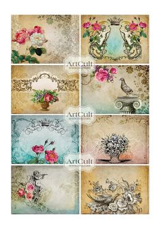 CHARMING ELEGANCE  Printable Digital Collage Sheet Gift by ArtCult, $4.60 supplies: http://www.ecrafty.com/c-6-photo-jewelry.aspx