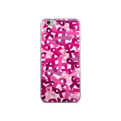 Pink Ribbon Camouflage iPhone Case