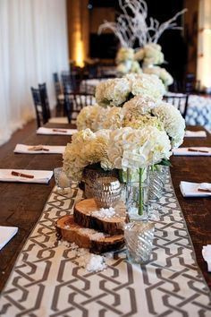 photo: Brittany Stover Photography; Romantic Floral Wedding Centerpieces - wedding centerpiece.