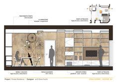 Interior Architecture Drawing, Interior Rendering, Interior Sketch, Architecture Design, Interior Design Portfolios, Planer Layout, Interior Design Presentation, Architectural Section, Restaurant Interior Design