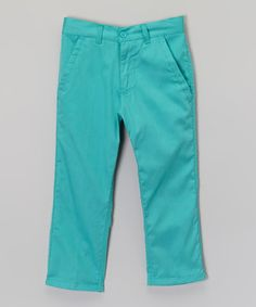Another great find on #zulily! Mint Chino Pants - Boys by Galaxy by Harvic #zulilyfinds