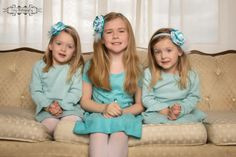 My best friend's three daughters for their Christmas shoot.