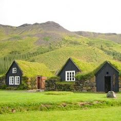 Icelandic turf houses have been constructed for centuries. (via ink+wit)