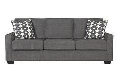 Dark Gray Shayla Queen Sofa Sleeper View 2 Little Tudor Apartment