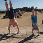 handstand around the world