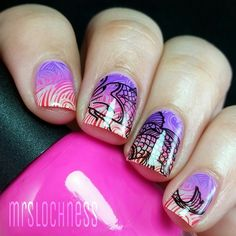 gradient stamping with double stamping.. amazing  mrslochness's photo on Instagram