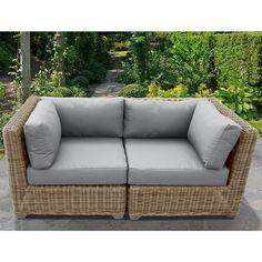 Cape Cod 2 Piece Outdoor Wicker Patio Furniture Set 02a