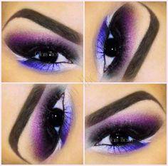 violet & blue eye makeup