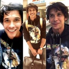 . How cute he is Hope you all have a good start to your week today • • • #bobmorley #bellamyblake #the100