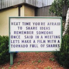 Don't be afraid to share your ideas!