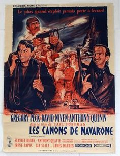 Lot 20 - The Guns of Navarone 1961 French Film Poster, one small tear to one folded crease, poster is in very