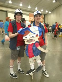 Dipper, Tyron, and Paperjam cosplay ftw!!