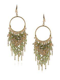 ABS by Allen Schwartz Jewelry Vibrant Vibes Beaded Chandelier Earrings