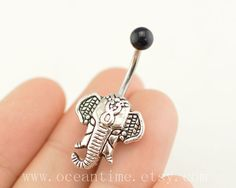 Elephant Belly Button Rings,elephant Navel jewelry,lucky belly button jewelry,friendship belly rings,summer jewelry