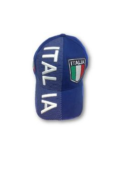 797c895a545 Italy Soccer Caps National Team Embroidered Crest Baseball Hat