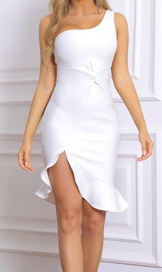 White Bandage Dress, White Cocktail Dress, White Mini Dress, Bodycon Dress, Mini Dress Formal, White Sundress, Club Party Dresses, Event Dresses, Dress Party