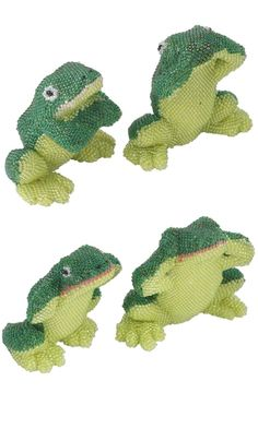 Home Décor Beaded Frogs with Seed Beads
