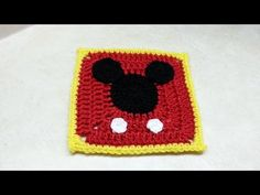 #Crochet Mickey Mouse Granny Square #TUTORIAL - Knitting Story
