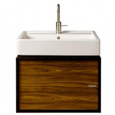 "BATHROOM - VANITY: Porcher Solutions™ 24"" Wall Hung Cabinet shown in Rosewood (605)"