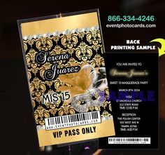 Royal Blue Damask Birthday Vip Pass Invitations Sweet 16 - Gold Damask Vip Pass Invitations - VIP Pass - Shop by Theme - Quinceanera Invitations, Sweet Sixteen Invitations, Vip Passes - (Powered by CubeCart)