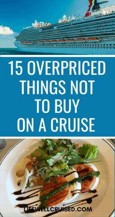 If you don't want to waste money on your cruise, avoid buying these 15 overpriced things on a cruise. While you may want to splurge on a few great experiences, first time cruisers beware, these can be costly mistakes to avoid. Cruise Port, Cruise Travel, Cruise Vacation, Cruise Ship Reviews, Best Cruise Ships, Packing List For Cruise, Cruise Tips, Cruise Italy, Carnival Cruise Ships