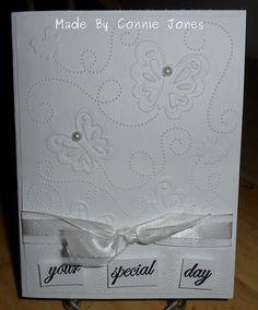 Quick & simple wedding card.