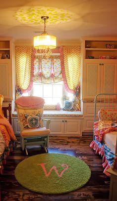 Meet Winter Hailyn... And tour her beautiful new little girls' bedroom nursery! Custom rug by Creative Carpet Design.