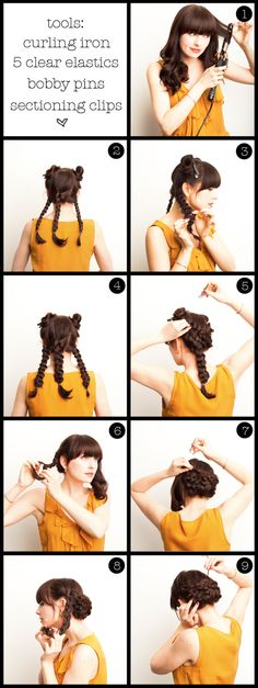 I love the idea of doing this to my hair, but I have two problems: 1, what the heck do you do in step 5? Seriously, what? and 2, I really don't understand how to work bobby pins.  This is why I'm afraid that I'll show up to my friend's wedding with my hair in a ponytail because I don't know what else I can do with it.