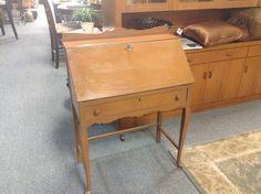 Secretary Desk - solid wood construction. Item 1297-5. Price $120.00    - http://takeitorleaveit.co/2016/09/16/secretary-desk-5/