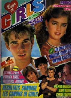 Brooke Shields and Pierre Cosso covers Boys Et Girls magazine N° 267 France -7th February 1985