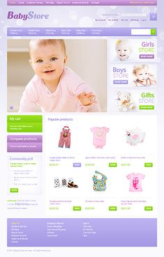 Baby Store Magento Themes by Hermes