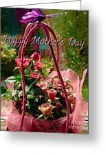 Mother's Day Roses Greeting Card by Joan-Violet Stretch