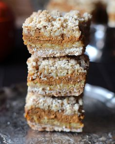 Pumpkin Pie Crumble Bars
