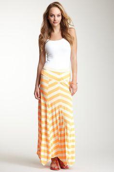 Charlotte Tarantola Neon Stripe Maxi Skirt by Charlotte Tarantola on @HauteLook