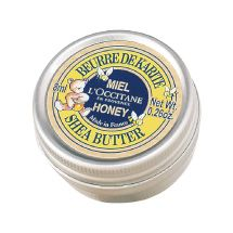 Pure Shea Butter & Honey ($10).  This limited edition iteration of our ultra-nourishing shea butter is enriched with honey extract to repair, protect and lightly scent lips, face, cuticles and hands. Our mini aluminum tin is easily portable, to keep your skin nourished at all times! #loccitane#repinforsweetskin