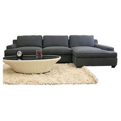 """Bring stately style to your living room or den with this midcentury-inspired sleeper sofa, showcasing twill upholstery in gray.           Product: Sectional sofa   Construction Material: Hardwood, steel, foam and twillColor: Gray   Features:  17.75"""" Seat height  Fully removable upholstery covers  Non-marking feet       Dimensions:   28"""" H x 122.25"""" W x 60"""" D (overall)"""