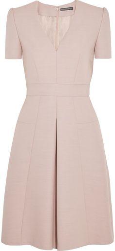 Alexander McQueen Pleated wool-blend mini dress