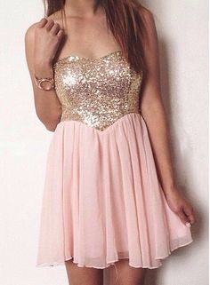 Sequined Homecoming Dress