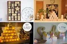 Récapitulatif de mes calendriers de l'avent DIY sur le blog créatif.fr