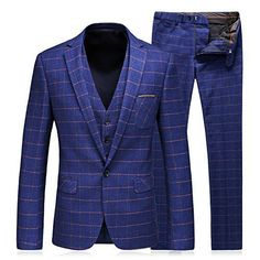 WEEN CHARM Men's Slim Fit 3 Pieces suits provide 10 kinds of style for your selection.It comes with the two button Blazer Jacket, vest and pants. -For most people ,you just need to buy the size you wear normally. -If you are not sure which size to buy,please just send us your weight and... More details at https://jackets-lovers.bestselleroutlets.com/mens-jackets-coats/suits-sport-coats/suits/product-review-for-ween-charm-mens-3-piece-suit-two-button-plaid-slim-fit-bla